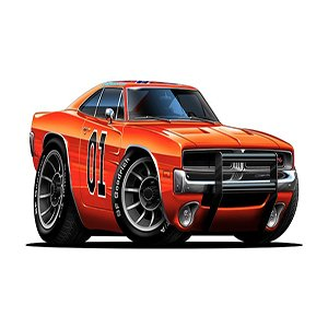 Orange Cartoon Racing Car